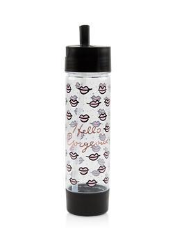 Hello Gorgeous Flip Straw Water Bottle - 7135024901962