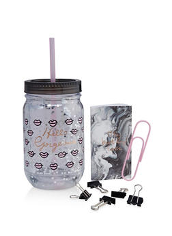 Hello Gorgeous Tumbler with Stationery Set - 7135024902196