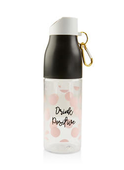 Drink Positive Polka Dot Water Bottle - 7135024902637