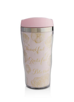 Thankful Grateful Blessed Travel Mug - 7135024904599