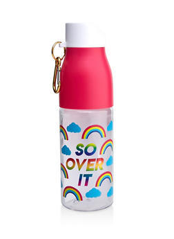 So Over It Rainbow Print Water Bottle - 7135024904627