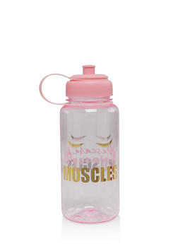 Mascara and Muscles Water Bottle - 7135024906196