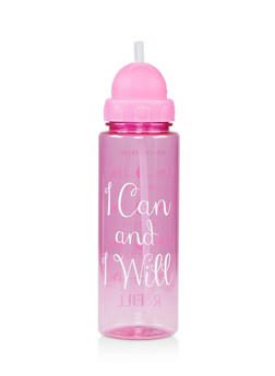I Can and I Will Flip Straw Water Bottle - 7135024909426