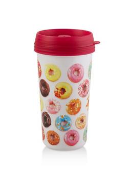 Donut Graphic Travel Mug - 7135075638666