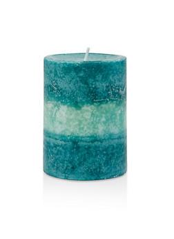 4 Inch Pillar Candle | Fresh Ocean Flowers - 7136075562608