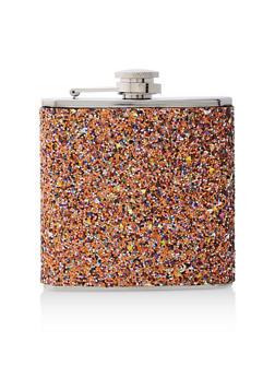 Orange Glitter Flask - 7137062926503