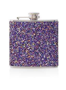 Purple Glitter Flask - 7137062926504