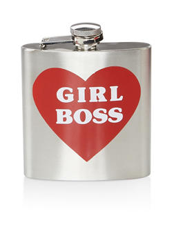Girl Boss Heart Flask - 7137068064162