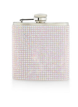 Iridescent Rhinestone Flask - 7137074172602