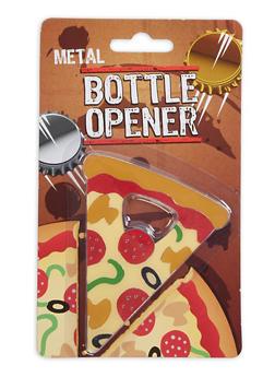 Pizza Slice Metal Bottle Opener - 7137075638234