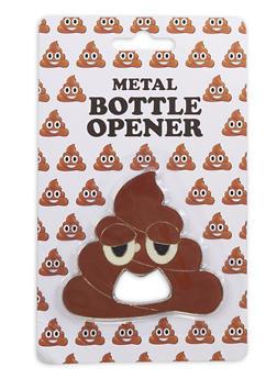 Poop Emoji Metal Bottle Opener - 7137075638416