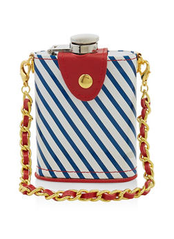 Striped Chain Strap Flask - 7137075962259