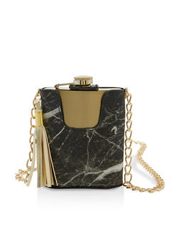 Marbled Chain Strap Flask - 7137075968252
