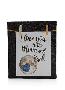 I Love You to The Moon and Back Clothes Pin Photo Board - 7138062922961