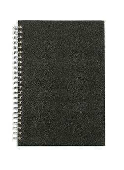Black Glitter Spiral Notebook - 7139068064495