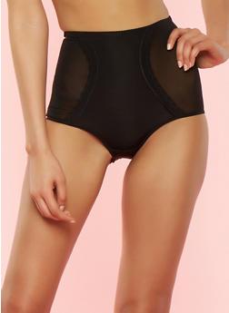 Black High Waisted Shapewear Panties - 7150035160026