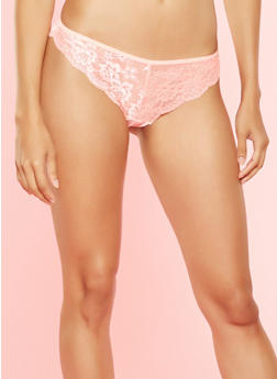 Floral Lace Cheeky Panties - 7150035160156