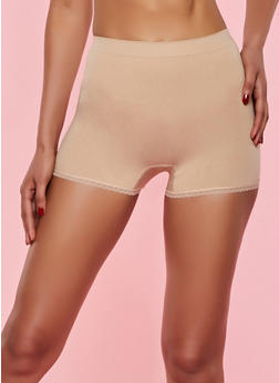 Lace Trim Shapewear Shorts - 7150035160586