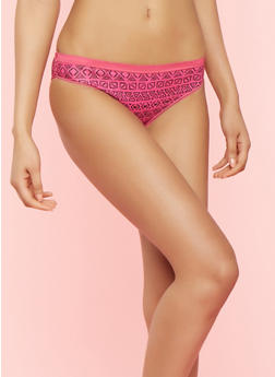 Pack of 5 Solid and Printed Panties - 7150035160685
