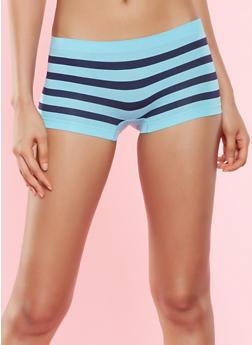 Striped Seamless Boyshort Panty - 7150035160800