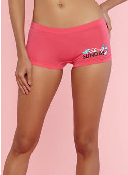 Day of the Week Graphic Boyshort Panties - 7150035161006
