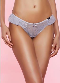 Lace Ruffled Bikini Panty - 7150035161150