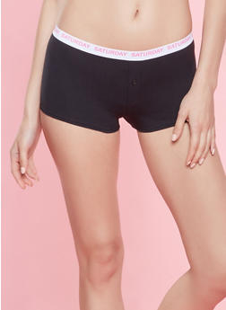 Day of the Week Graphic Boyshort Panties - 7150035161349