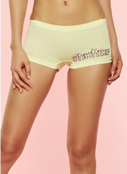 Day of the Week Seamless Boyshort Panties - 7150035161358