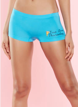 Day of the Week Graphic Boyshort Panty - 7150035161363