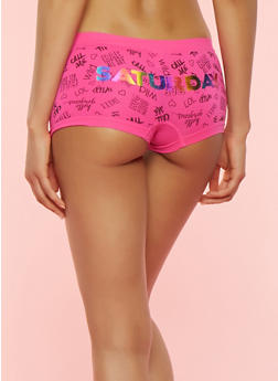 Day of the Week Boyshort Panties - 7150035161365