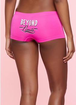 Beyond Limits Seamless Boyshort Panty - FUCHSIA - 7150035161408