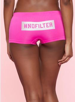 No Filter Graphic Seamless Boyshort Panty - 7150035161409