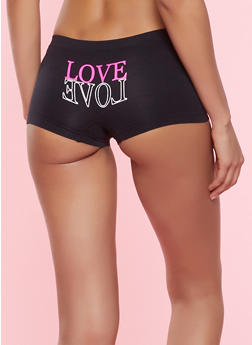 Love Graphic Boyshort Panty - 7150035161410