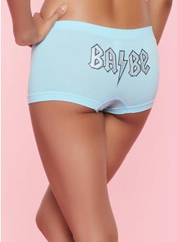 Metallic Graphic Boyshort Panty - 7150035161411