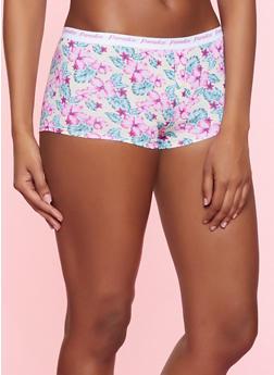 Womens Floral Cotton Underwear
