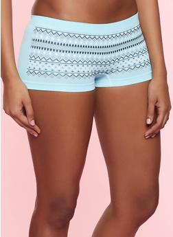 Aztec Print Boyshort Panty - 7150035161440