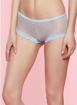Caged Swiss Dot Mesh Panty - 7150035161442