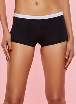 Day of the Week Elastic Band Boyshort Panty - 7150035161466