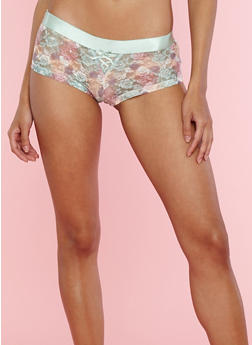 Pastel Floral Lace Boyshort Panties - 7150035161690