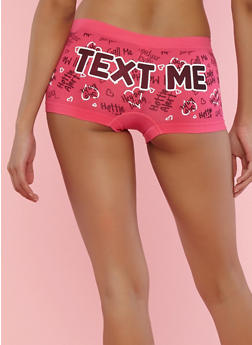 Graphic Print Boyshort Panties - 7150035161998