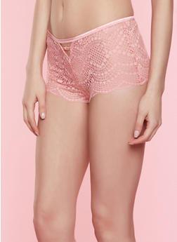 Caged Keyhole Lace Boyshort Panty | 7150035168749 - 7150035168749