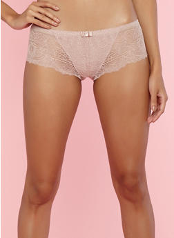 All Over Lace Pink Boyshort Panties - 7150059290292