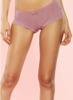 Striped Mesh Caged Back Panty - 7150064870806