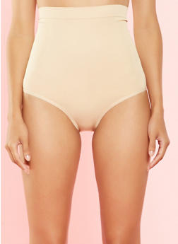 High Waisted Shapewear Bikini Panties - 7150064872135