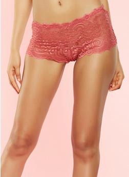 Caged Lace Boyshort Panty - 7150064872515