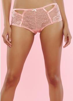 Keyhole Lace Boyshort Panty - 7150064873784
