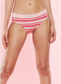 Striped Bikini Panty - MAUVE - 7150064878632