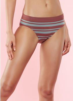 Striped Bikini Panty - OLIVE S - 7150064878632