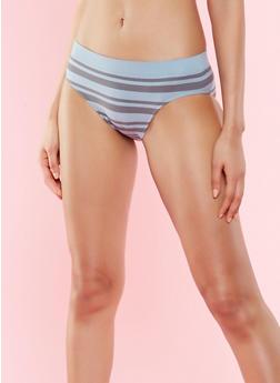 Striped Bikini Panty - SLATE - 7150064878632