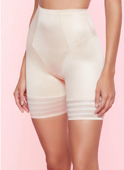 Shadow Stripe Trim Shapewear Shorts - 7150064878907